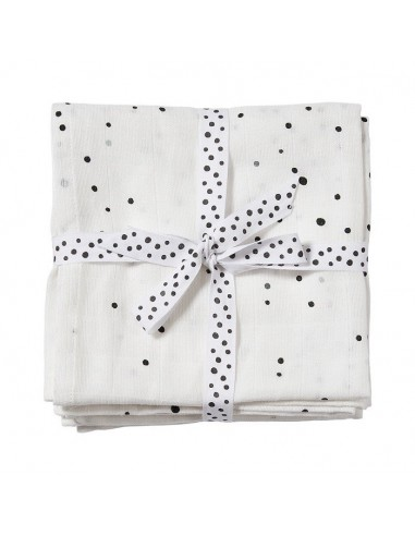 Pieluszki Dreamy Dots White - 2 sztuki, Done by Deer