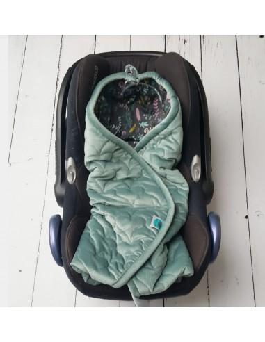 Otulacz do fotelika zgadzona zielień/ Botanic 0-12 miesięcy, Pink No More