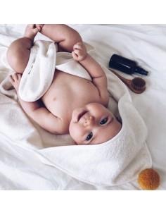 Bambusowy ręcznik niemowlęcy 75x75cm Musztardowy, Bim Bla