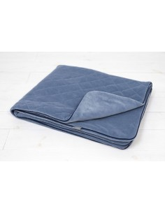 Kocyk Welurowy Royal Baby Denim 80x100cm, Sleepee