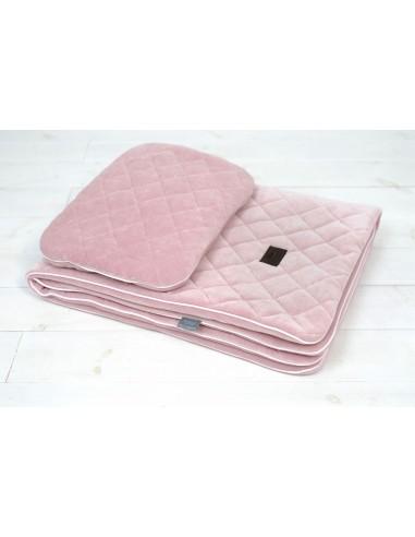 Zestaw Kocyk Welurowy z poduszką Royal Baby Pink, Sleepee