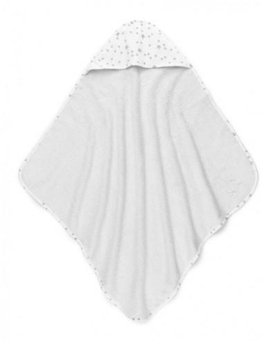 Ręcznik bawełniany z kapturkiem 72x72cm Szary MilkyWay, Colorstories