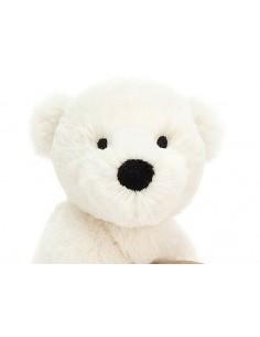 Shooshu Miś Polarny z gryzakiem i grzechotką 14cm, Jellycat