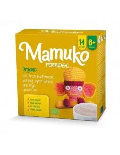 Organiczna kaszka owies jasna gryka jęczmień orkisz żyto 6m+, Mamuko