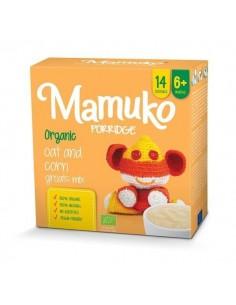 Organiczna kaszka owies kukurydza 6m+, Mamuko