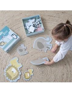 Puzzle Zoo-6 elementów +2 lala, Little Dutch