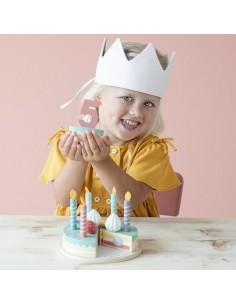 Drewniany torcik urodzinowy +3 lata, Little Dutch
