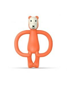 Gryzak Masujący ze Szczoteczką Matchstick Monkey Animals Bear Różowy