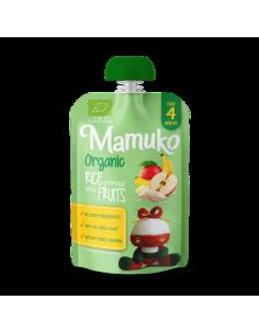 Deser mleczno-ryżowy BIO banan mango jabłko +4 m-ce, Mamuko