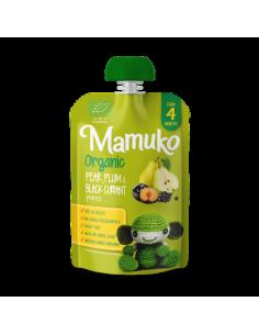 Puree owocowe BIO gruszka śliwka czarna porzeczka +4 m-ce, Mamuko