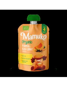 Puree warzywno-owocowe BIO dynia czarna porzeczka +4 m-ce, Mamuko