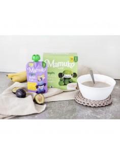 Puree owocowe BIO banan śliwka +4 m-ce, Mamuko