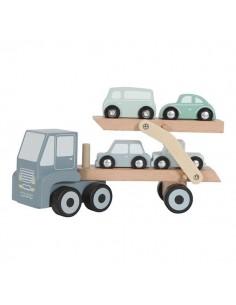 Laweta z podnośnikiem i 4 autkami +18 m-cy, Little Dutch