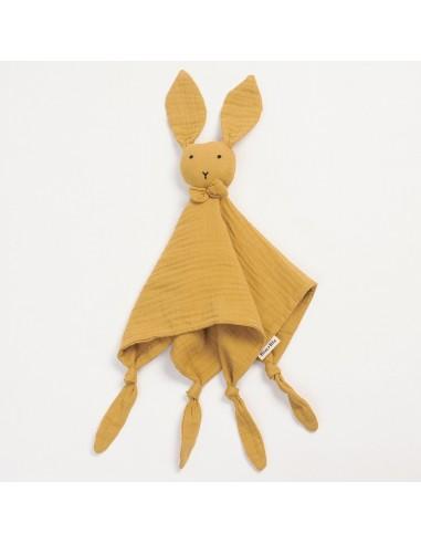 Przytulanka króliczek Huggy musztardowy, Bim Bla