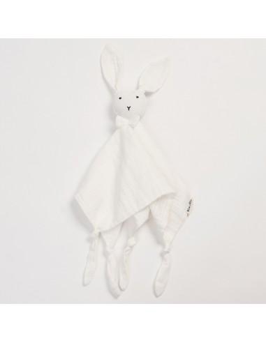 Przytulanka króliczek Huggy biały, Bim Bla
