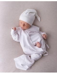 Bambusowa czapeczka dla niemowlaka śmietankowa 0-3 miesiące, Samiboo