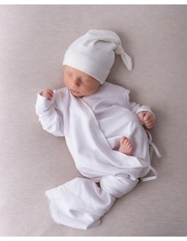 Bambusowa czapeczka dla niemowlaka śmietankowa 3-6 miesięcy, Samiboo