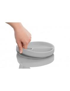 Talerzyk silikonowy z przyssawką szary, Minikoioi
