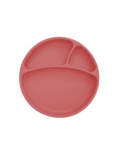 Talerzyk silikonowy z przyssawką różany, Minikoioi