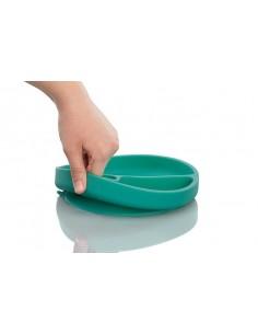 Talerzyk silikonowy z przyssawką zielony, Minikoioi