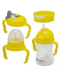Kubek 4w1 zestaw 240 ml cytrynowy, b.box