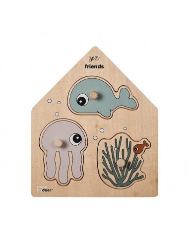 Puzzle Drewniane Sea Friends, Done by Deer