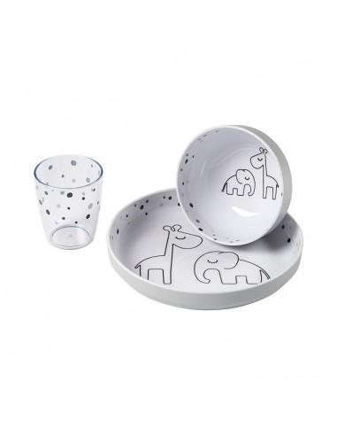 Zestaw Obiadowy Dreamy Dots Grey, Done by Deer