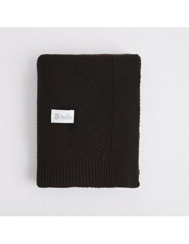 Kocyk bawełniany 80×100 czarny, Bolo