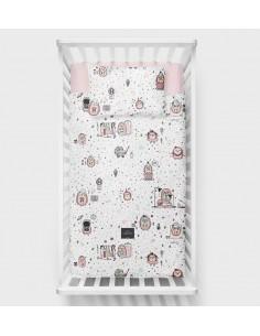 Poszewki - pościel bawełniana Jeż Różowy 100x135, Lullalove