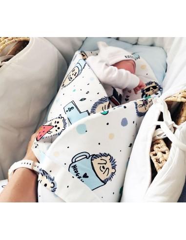 Rożek/ mata niemowlęca Jeż Niebieski, Lullalove