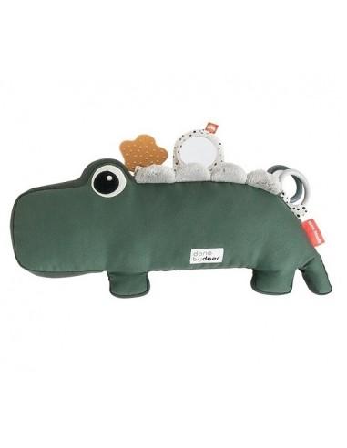 Poduszka z Zabawkami Croco Green +3 m-ce, Done by Deer