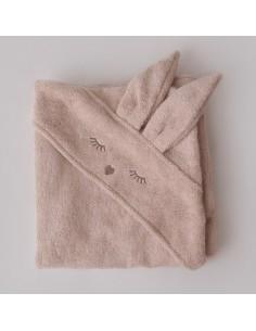 Ręcznik Bambusowy Króliczek Piaskowy 80x80cm, Samiboo