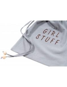 Woreczek na skarby Girl Stuff Washed Grey 30x40cm, Malomi