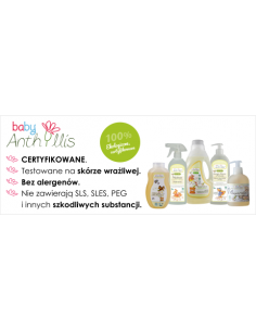 Płyn do mycia butelek i smoczków, z surfaktantem z oliwy z oliwek z upraw ekologicznych, 500 ml, Baby Anthyllis
