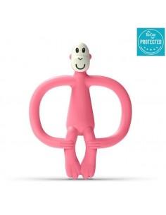 Gryzak Masujący ze Szczoteczką Matchstick Monkey Candy Pink