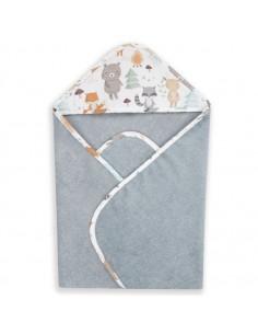 Ręcznik bawełniany z kapturkiem 72x72cm Woodland Szary, Colorstories