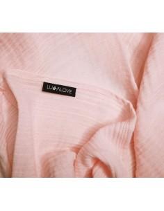 Otulacz muślinowy różowy kwarc 100x100 cm, Lullalove
