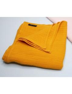 Otulacz muślinowy mango 100x100 cm, Lullalove