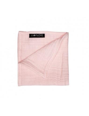 Pieluszka muślinowa różowy kwarc 30x30 cm, Lullalove