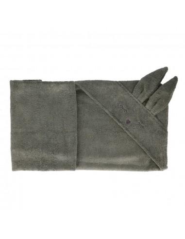 Ręcznik Bambusowy Króliczek Khaki 80x80cm, Samiboo