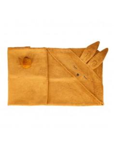 Ręcznik Bambusowy Króliczek Musztardowy 80x80cm, Samiboo