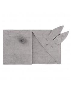 Ręcznik Bambusowy Króliczek Szary 90x90cm