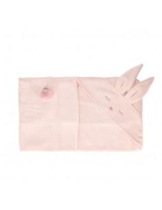 Ręcznik Bambusowy Króliczek Rosewater 80x80cm, Samiboo
