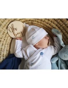 Body niemowlęce z długim rękawem z bawełny organicznej Balloons 56/ 62cm, Yosoy