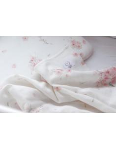 Otulacz muślinowy organic cotton muslin Japanese Flowers 80x80 cm, Yosoy