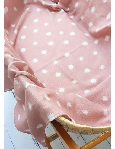 Otulacz muślinowy Słoneczka 120x120 cm, Pink No More