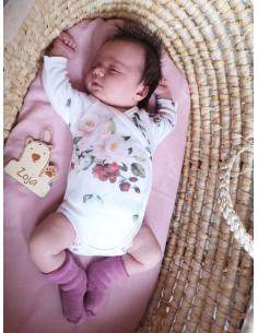 Body niemowlęce z długim rękawem z bawełny organicznej Vintage Roses 56/ 62cm, Yosoy