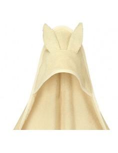 Ręcznik z uszami velvet organic cotton kremowy 74x74 cm, Yosoy