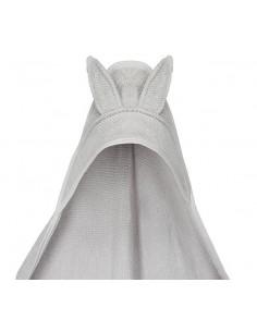 Ręcznik bambusowy z uszami jasno szary 100x100 cm, Yosoy