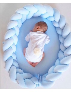Kokon niemowlęcy warkocz 2w1 błękitny, Sparrow